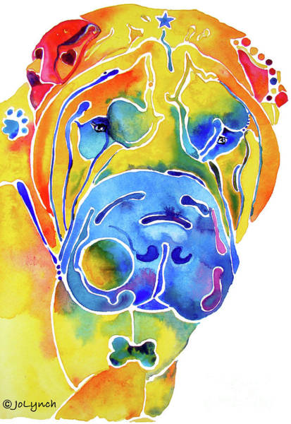 Painting - Whimsical Shar Pei by Jo Lynch