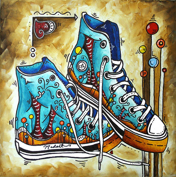 e3fddac14dd6ad Converse Shoes Painting - Whimsical Shoes By Madart by Megan Duncanson