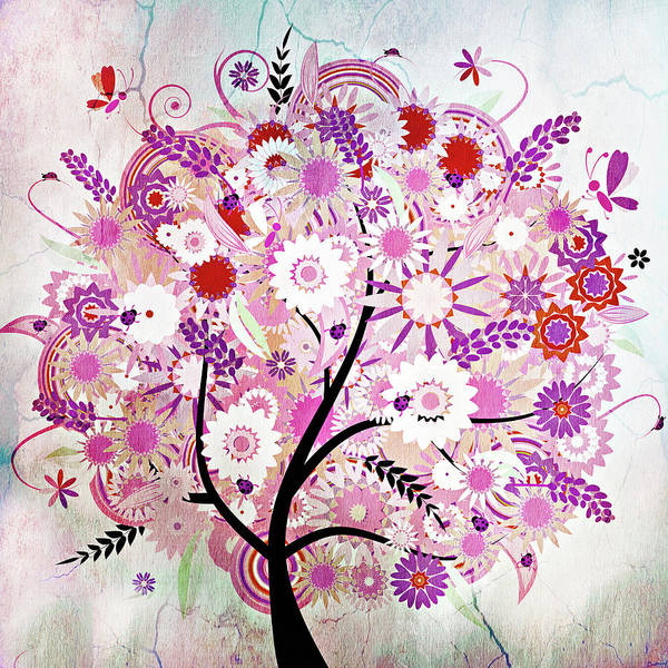 Mixed Media - Whimsical Vintage Tree With A Tale To Tell by Isabella Howard