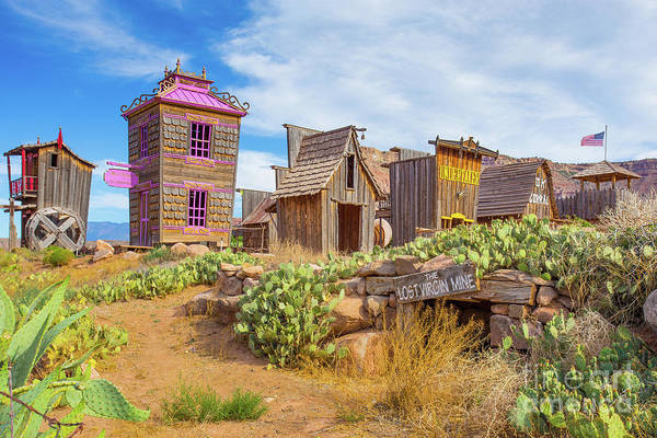 Wall Art - Photograph - Whimsical Western Town The Lost Virgin Mine by Edward Fielding