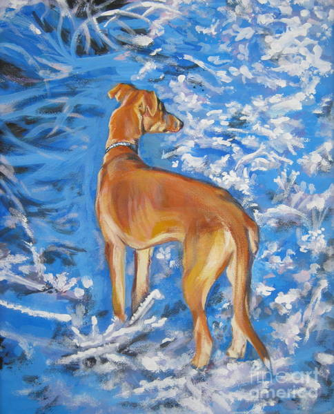 Whippet Wall Art - Painting - Whippet by Lee Ann Shepard