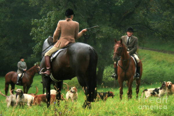 Photograph - Whipping In The Hounds by Angela Rath