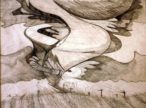 Dust Drawing - Whipping Wires by Jame Hayes