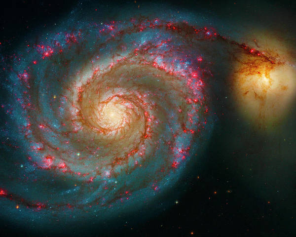Photograph - Whirlpool Galaxy M51 by Paul W Faust - Impressions of Light