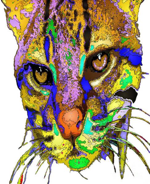 Digital Art - Whiskers. Pet Series by Rafael Salazar