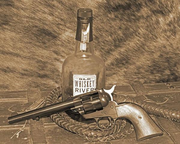 Photograph - Whiskey And A Gun by Dawn Key