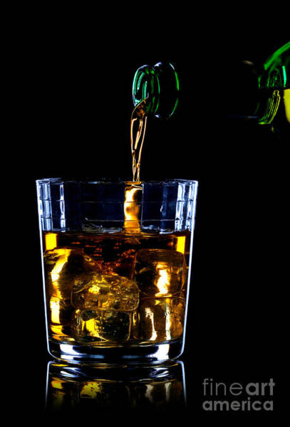Scotch Wall Art - Photograph - Whiskey Being Poured by Richard Thomas