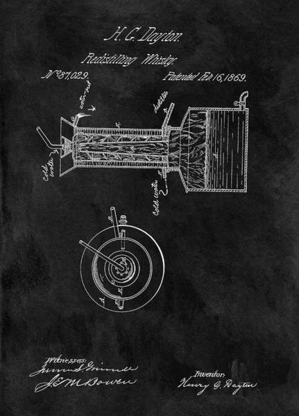 Beam Drawing - Whiskey Distillery Patent by Dan Sproul