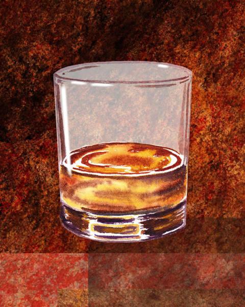 Painting - Whiskey Glass by Irina Sztukowski