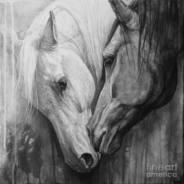 White Horse Wall Art - Painting - Whisper by Silvana Gabudean Dobre