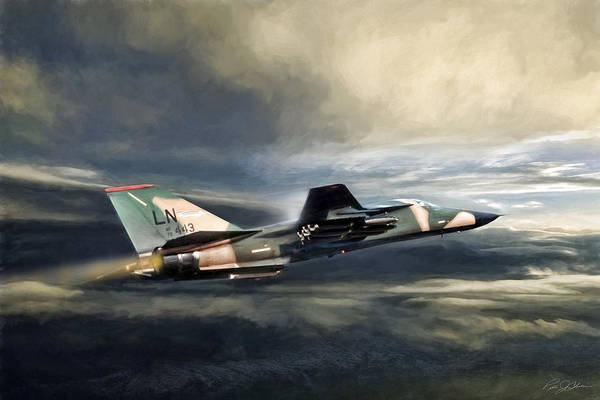 General Dynamics Digital Art - Whispering Death F-111 by Peter Chilelli