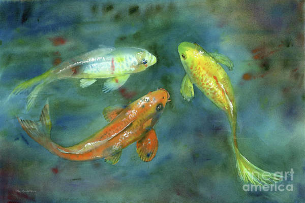 Painting - Whispering Koi by Amy Kirkpatrick