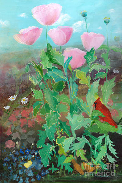 Painting - Whispering Pink Poppies by Robin Maria Pedrero