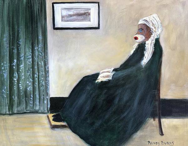 Sock Monkey Painting - Whistlin Mother by Randy Burns
