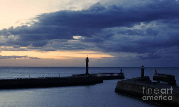 Photograph - Whitby Harbour By Night by Lexa Harpell