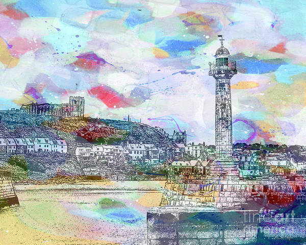 Painting - Whitby Harbour by Tracy-Ann Marrison
