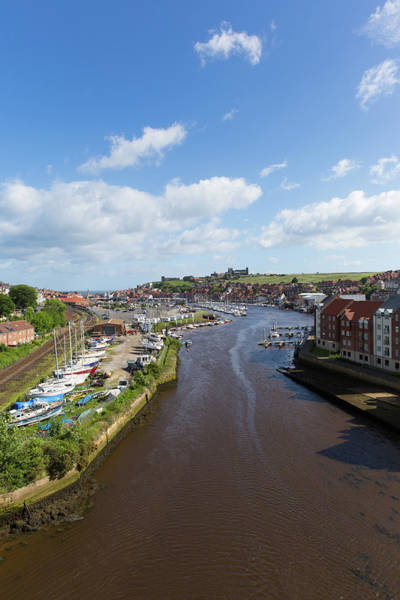 Wall Art - Photograph - Whitby North Yorkshire England Uk Seaside Town And Tourist Destination In Summer With View Of River  by Michael Charles