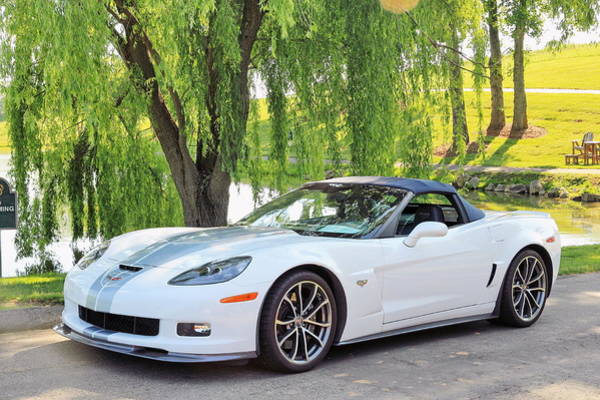 Photograph - White 60th Anniversary 2013 Corvette 427 Convertible  by Simply  Photos