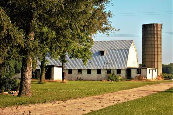 Photograph - 0052 - White Barn And Silo by Sheryl Sutter