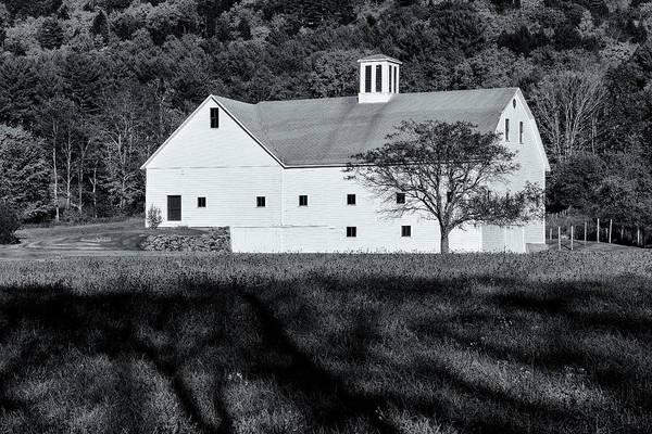 Photograph - White Barn by Tom Singleton