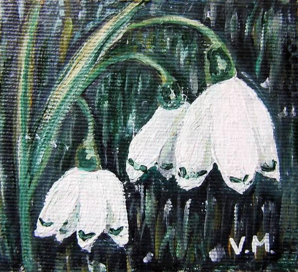 Snowdrop Painting -  White Bells by Vesna Martinjak