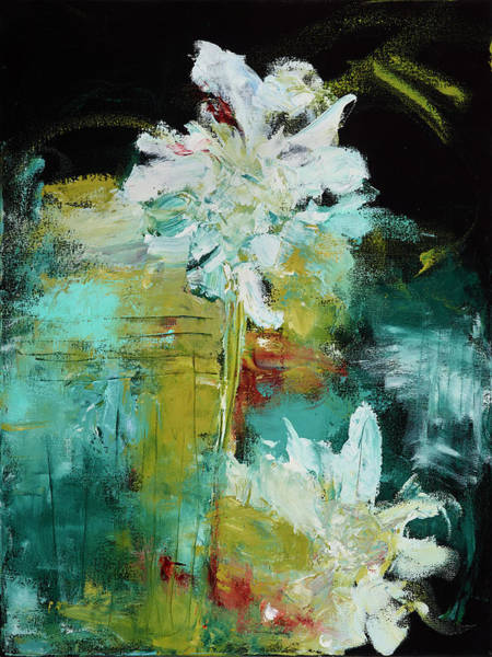 Painting - White Blooms by Nan Davis