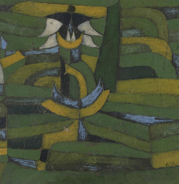 Painting - White Blossom In The Garden by Paul Klee