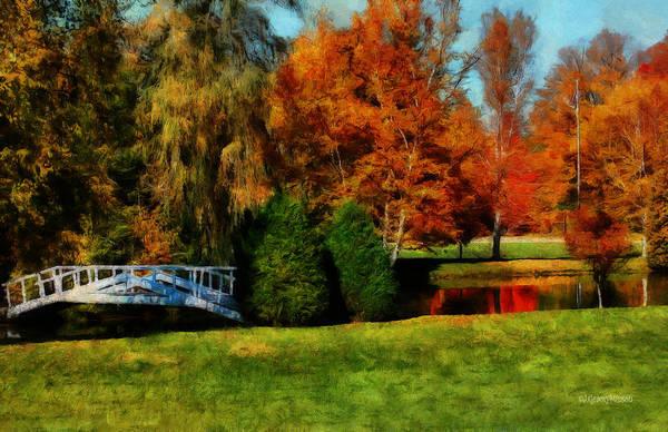 Digital Art - White Bridge Oro by JGracey Stinson
