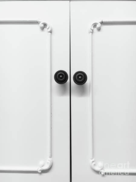Wall Art - Photograph - White Cabinet Doors by Tom Gowanlock