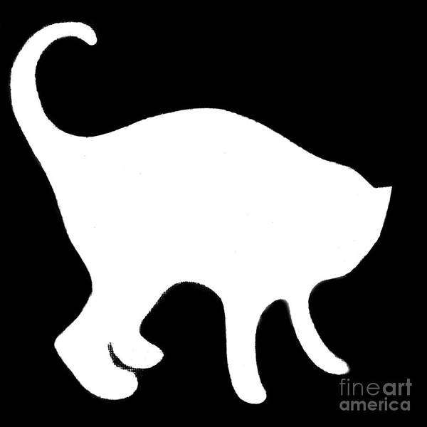 Digital Art - White Cat by Helena Tiainen