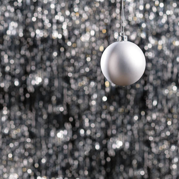 Photograph - White Christmas Bauble  by U Schade