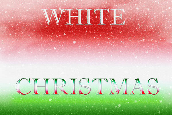 Christmas Season Wall Art - Digital Art - White Christmas by Steve Ohlsen