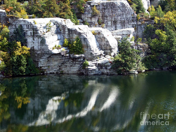 Photograph - White Cliffs At Lake Minnewaska Photograph by Kristen Fox