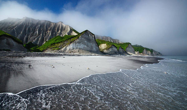 Shore Photograph - White Cliffs Of Iturup Island by Alexey Kharitonov