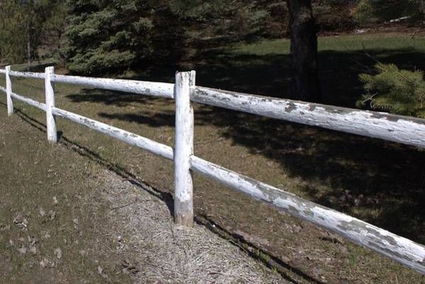 Photograph - 6005 - White Country Fence by Sheryl L Sutter