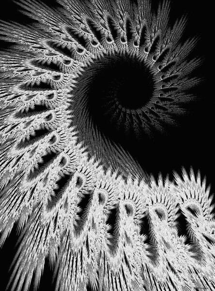 Crochet Digital Art - White Crochet by Elizabeth McTaggart