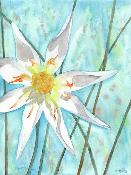Painting - White Dahlia by Ken Powers