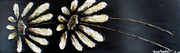 Mixed Media - White Daisies by Tracey Armstrong