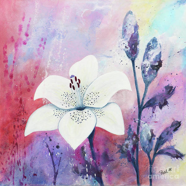 Pistil Painting - White Dress With Spots by Jutta Maria Pusl