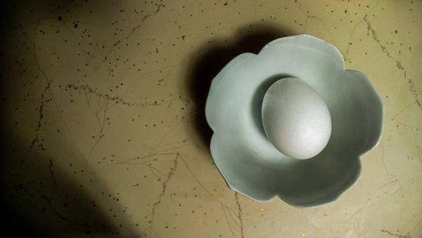 Photograph - White  Egg In White Bowl by Jeff Kurtz