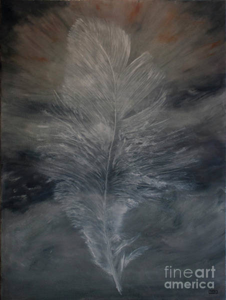 Wall Art - Painting - White Feather by Julie Bond