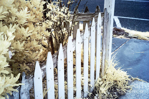 Wall Art - Photograph - White Fence At Ocean Grove by John Rizzuto