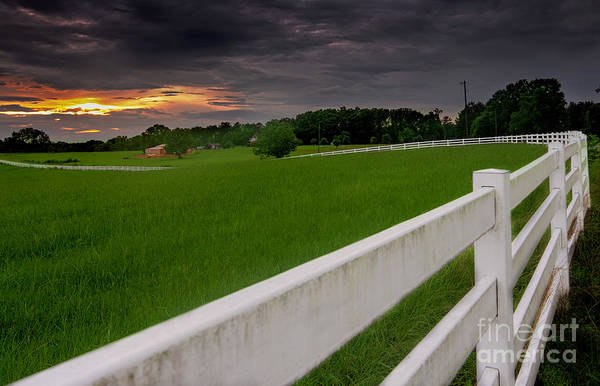 Photograph - White Fence Leads Home by James Hennis