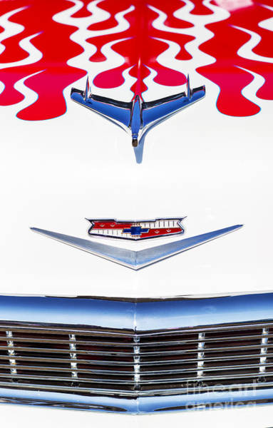 Chevy Bel Air Photograph - White Flame by Tim Gainey
