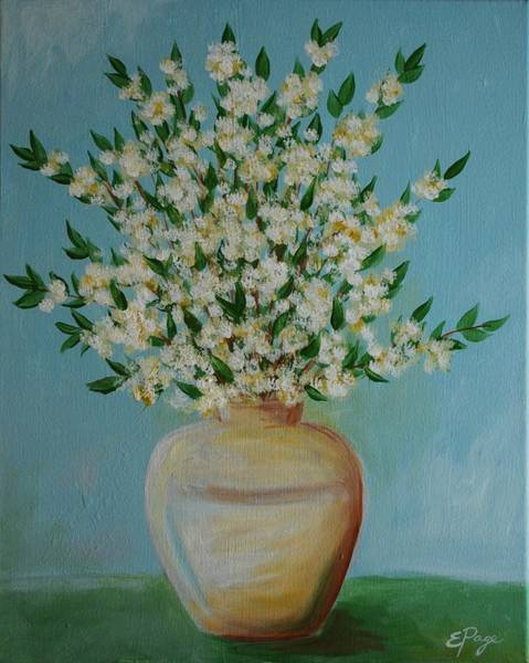 Painting - White Flowers And Vase by Emily Page