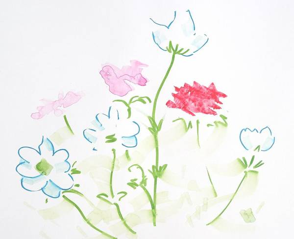 Painting - White Flowers Design by Mike Jory