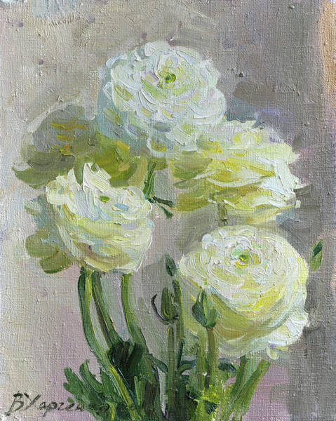 Wall Art - Painting - White Flowers by Victoria Kharchenko
