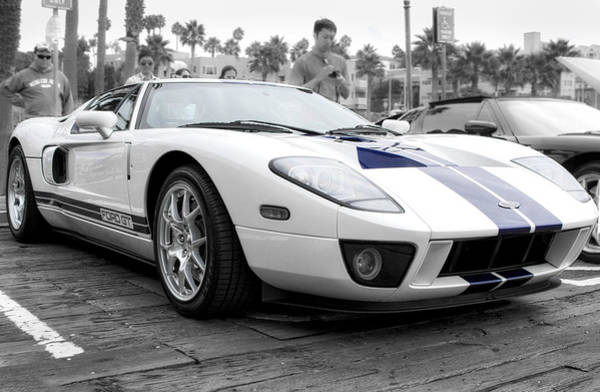 Photograph - White Ford Gt Super Car by Gene Parks