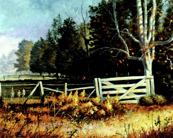 Painting - White Gate by Randy Welborn