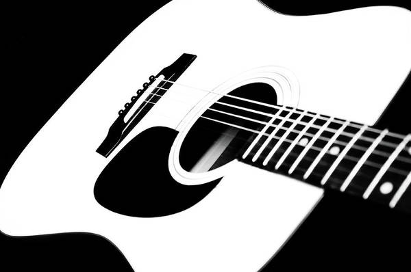 Photograph - White Guitar 4 by Andee Design